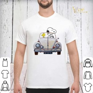 Snoopy and woodstock driving Volkswagen Beetle shirt sweater 2