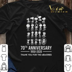 Thank you for the memories Peanuts 70th anniversary 1950-2020 shirt 2