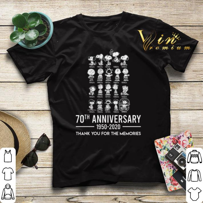 Thank you for the memories Peanuts 70th anniversary 1950 2020 shirt 4 1 - Thank you for the memories Peanuts 70th anniversary 1950-2020 shirt