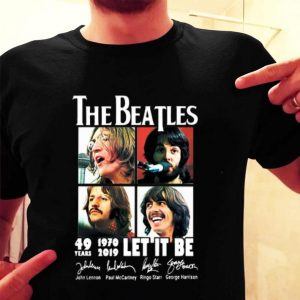 The Beatles 49 Years 1970-2019 Let It Be Signatures shirt