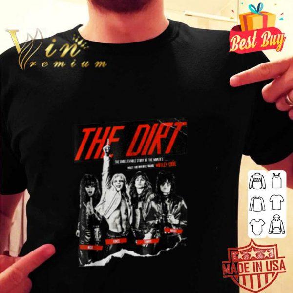 The Dirt Motley Crue Mick Vince Tommy Nikki shirt