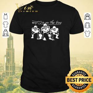 Top Football my heart is on the line shirt sweater