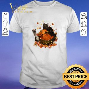 Top Halloween Autumn Cats shirt