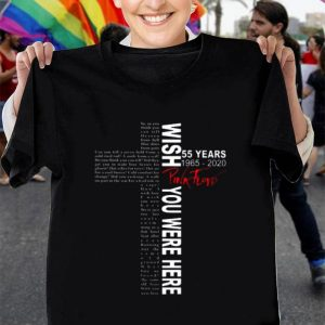 Wish You Were Here 55 Years Pink Floyd 1965-2020 shirt