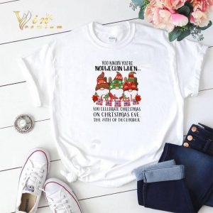 24th December Gnome You know you're Norwegian God Jul Christmas shirt