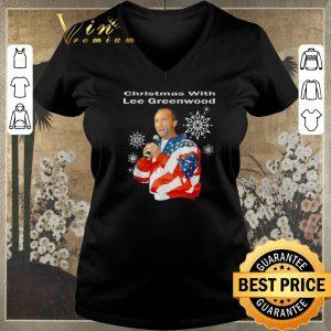 Awesome American flag Christmas with Lee Greenwood shirt