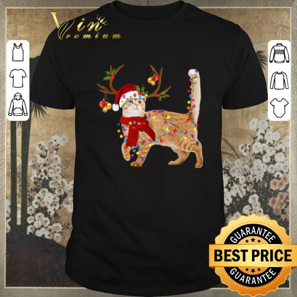 Awesome Christmas Cat gorgeous reindeer shirt