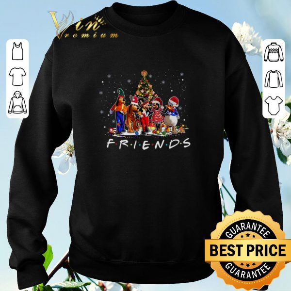 Awesome Friends Mickey Mouse characters Christmas tree Disney shirt sweater