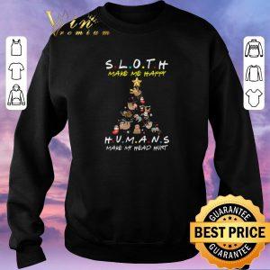 Awesome Friends Sloth Make Me Happy Humans Make My Head Hurt Christmas shirt sweater 2
