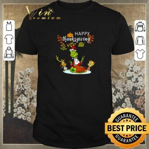 Awesome Happy thanksgiving Grinch shirt