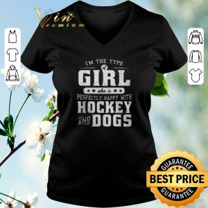 Awesome I'm the type of girl who is perfectly happy with hockey and books shirt sweater