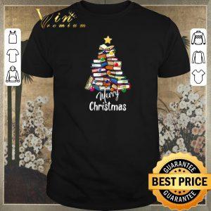 Awesome Merry Christmas Books Christmas Tree shirt