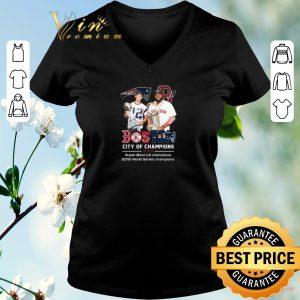 Awesome Patriots Boston City of champions Super Bowl LIII champions shirt sweater