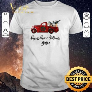 Awesome Truck cats meow meow Christmas y'all shirt