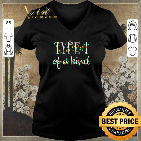 Awesome Type 1 of a kind Christmas lights shirt sweater