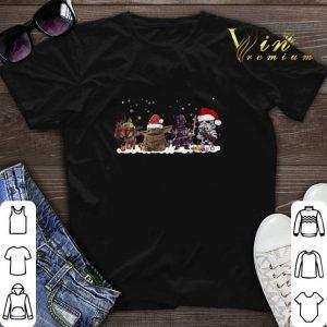 Boba Fett Baby Yoda Darth Vader R2D2 chibi Christmas shirt sweater