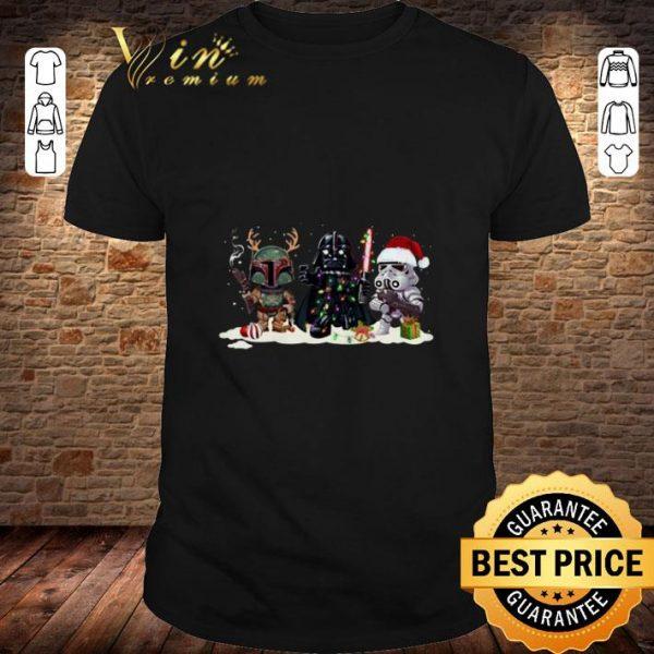 Boba Fett Stormtrooper Darth Vader Star Wars Christmas shirt