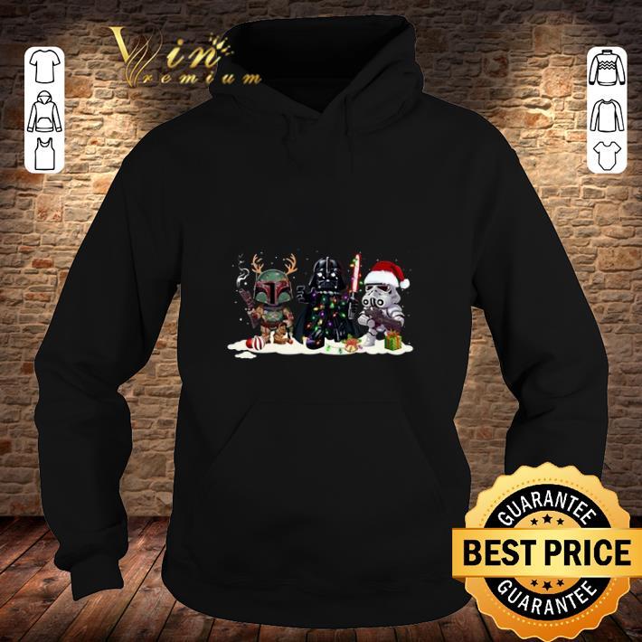 Boba Fett Stormtrooper Darth Vader Star Wars Christmas shirt 4 - Boba Fett Stormtrooper Darth Vader Star Wars Christmas shirt