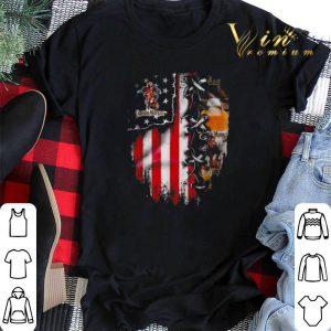Captain Morgan inside American flag shirt sweater