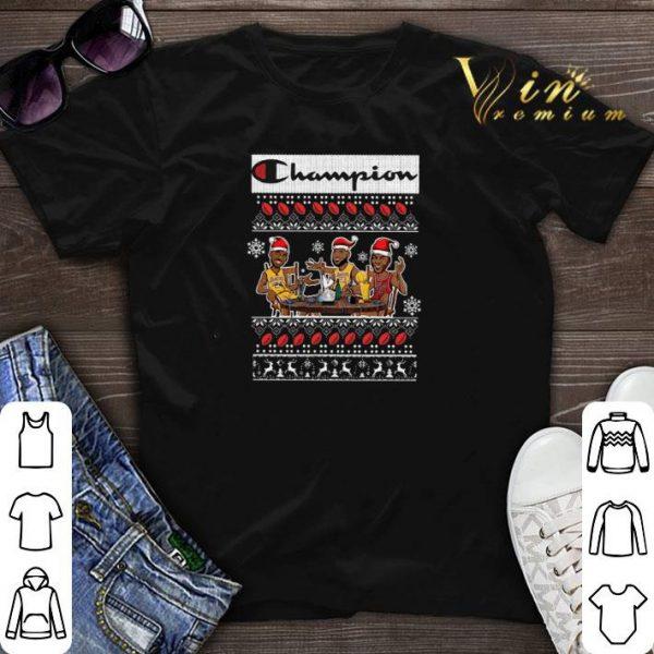 Champion Lebron James Kobe Bryant Michael Jordan ugly Christmas shirt sweater
