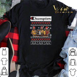 Champion Lebron James Kobe Bryant Michael Jordan ugly Christmas shirt sweater 1