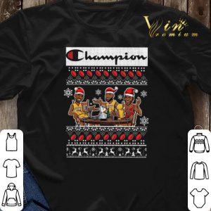 Champion Lebron James Kobe Bryant Michael Jordan ugly Christmas shirt sweater 2