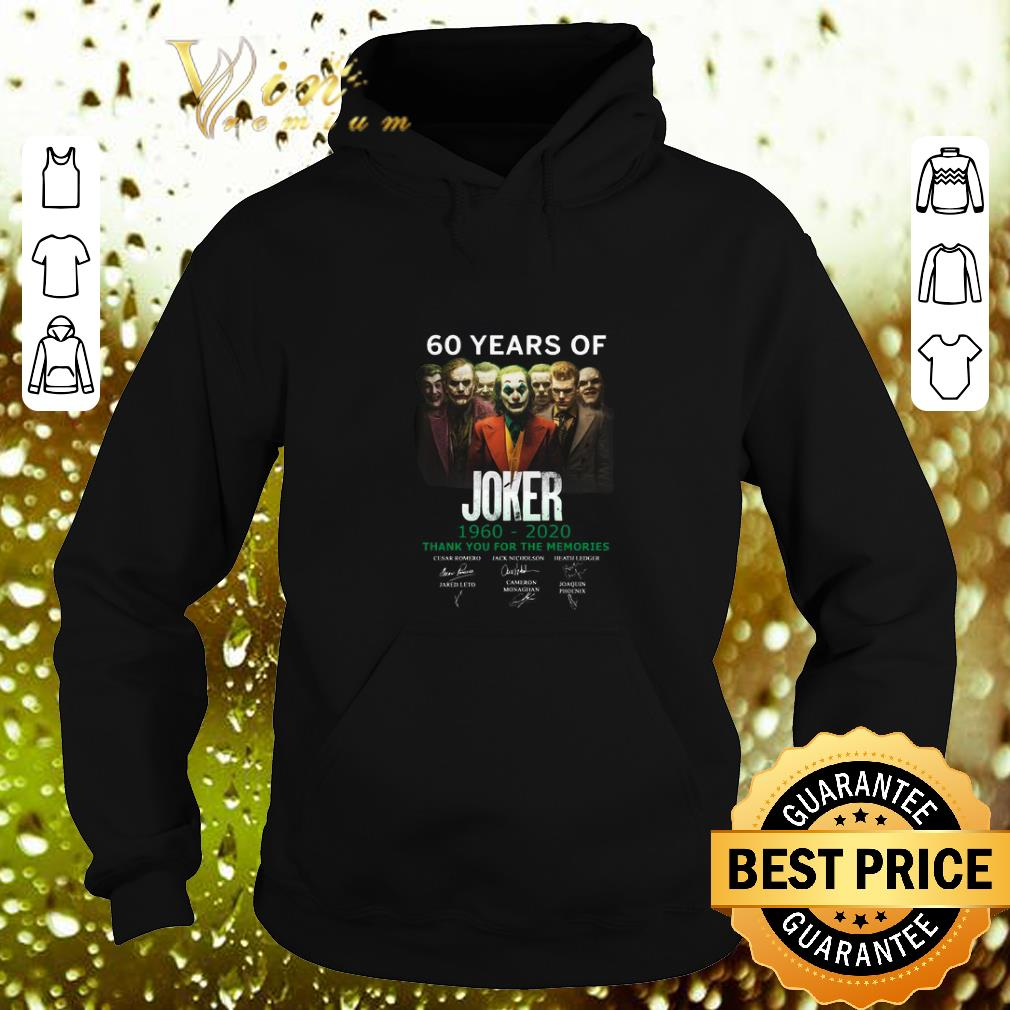 Cheap 60 years of Joker 1960 2020 thank you for the memories signature shirt 4 - Cheap 60 years of Joker 1960-2020 thank you for the memories signature shirt
