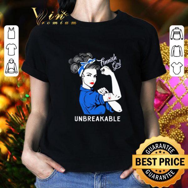 Cheap Finnish Girl Unbreakable Finland Flag shirt