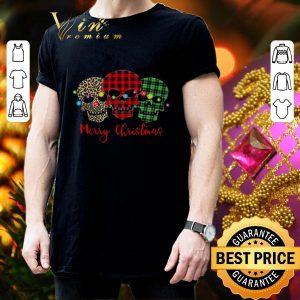 Cheap Skull Merry Christmas Leopard Pattern Plaid shirt 2
