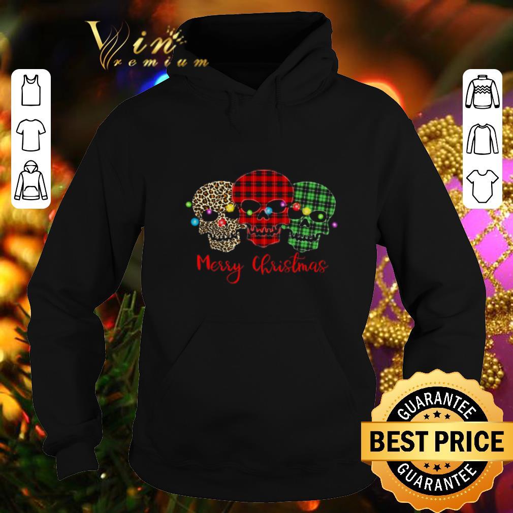 Cheap Skull Merry Christmas Leopard Pattern Plaid shirt 4 - Cheap Skull Merry Christmas Leopard Pattern Plaid shirt