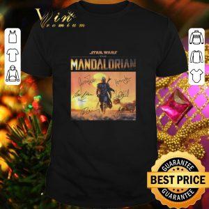 Cheap Star Wars the Mandalorian signatures shirt