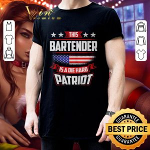 Cheap This Bartender is a die hard Patriot American flag shirt 2