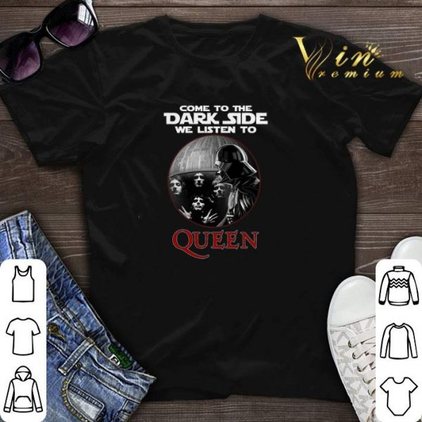 Darth Vader come to the dark side we listen to Queen shirt sweater