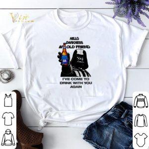 Darth Vader hello darknes my old friend drink Bud Light shirt sweater