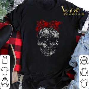 Diamond skull santa bow tie head shirt sweater