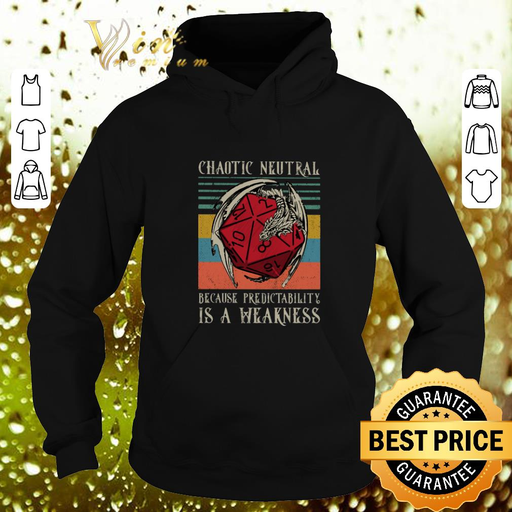 Funny Chaotic Neutral because predictability is a weakness vintage shirt 4 - Funny Chaotic Neutral because predictability is a weakness vintage shirt