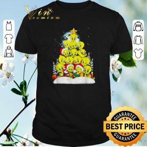 Funny Christmas tree Tweety Santa shirt