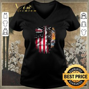 Funny Coors light inside American flag shirt