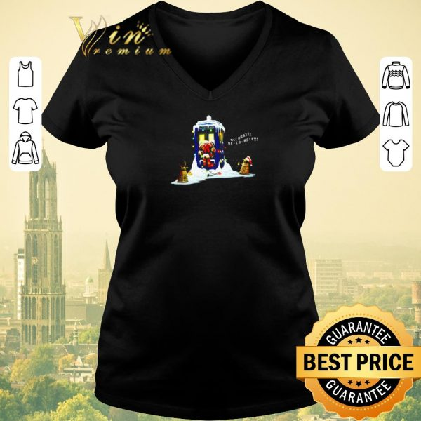 Funny Doctor Who police box Dalek decorate shirt sweater