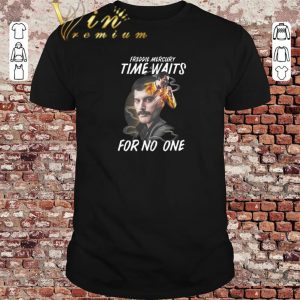 Funny Freddie Mercury time waits for no one shirt sweater 2019