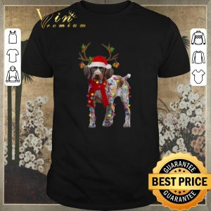 Funny German Shorthaired Pointer reindeer Christmas shirt sweater