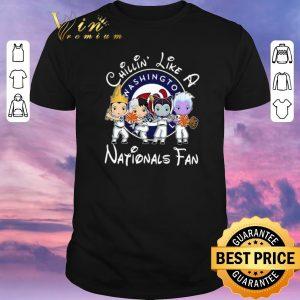 Funny Maleficent Chillin' like a Washington Nationals fan shirt sweater