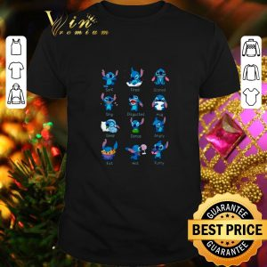 Funny Stitch surf tired scared sing disgusted hug sleep dance angry shirt