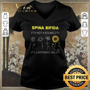 Funny Sunflower Spina bifida it's not a disability it's a different ability shirt