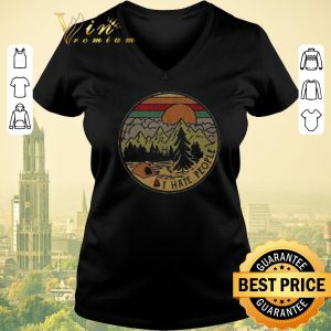 Funny Sunset camping i hate peple vintage shirt