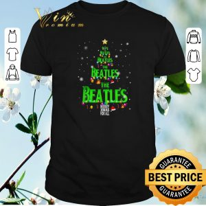 Funny The Beatles Merry Xmax For All Chirstmas tree shirt sweater