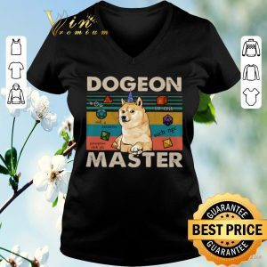 Funny Vintage Shiba dogeon master dungeon shirt