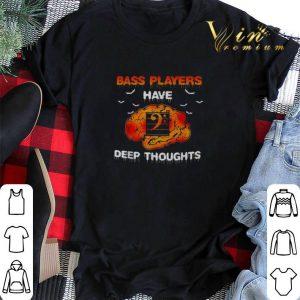 Halloween Bass players have deep thoughts shirt 1