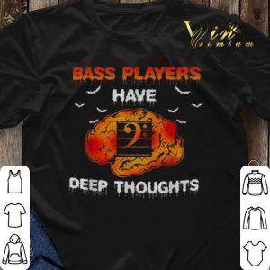 Halloween Bass players have deep thoughts shirt 2