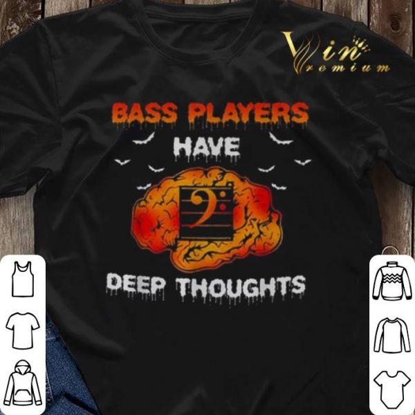 Halloween Bass players have deep thoughts shirt